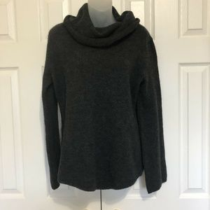 Sarah Spencer XL Sweater Gray Long Sleeves Wool